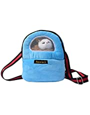Asoract Hamster Carrier Bag, Newest Design Pet Carrier Bag Super Soft Portable Outgoing Bag Adjustable Hedgehog Carrier Pouch with Mesh Breathable for Hamster Squirrel Guinea Pig Chinchilla Etc