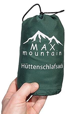 MAX mountain Saco de dormir para de microfibra + funda para la almohada, ligero,