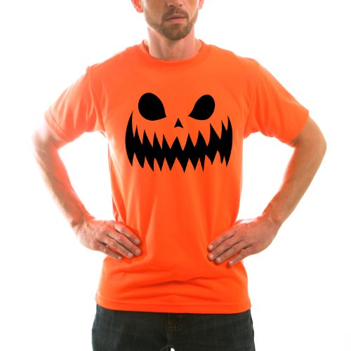 [Scary Pumpkin Face Adult Halloween Costume Unisex Short Sleeve TShirt XX-Large] (Mens Halloween Costume Ideas Last Minutes)