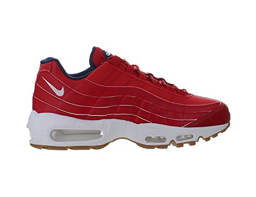 "Nike Mens Air Max 95 PRM ""4th of July"" University Red/White-Mid Navy Leather Size 10 Review"