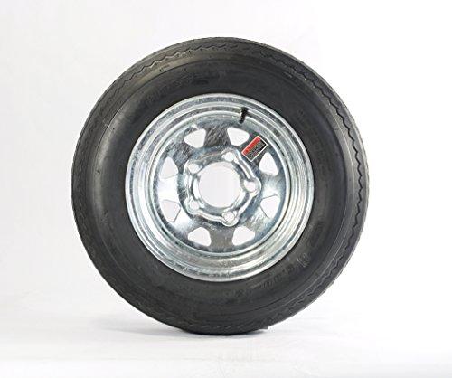 eCustomRim 2-Pk Trailer Tire Rim 5.30-12 12 in. Load C 5 Lug Galvanized Spoke