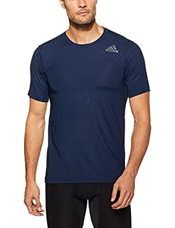 adidas Men's CZ5452 Freelift Fitness Fitted T-Shirt, Collegiate Navy, Medium