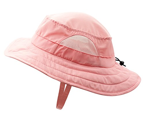 - Connectyle Kids UPF 50+ Mesh Safari Sun Hat UV Sun Protection Hat Summer Daily Bucket Play Hat Pink