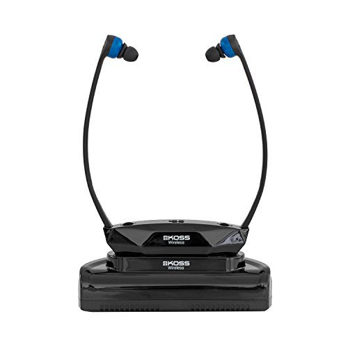 Koss Wireless TV Headphones | Headset System for Wireless Television Listening | Wireless Infrared Technology | Base Station Included | Easy Set-Up | Light Weight Design | Three Cushion Sizes Included