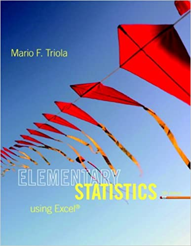 Book Elementary Statistics Using Excel (5th Edition)