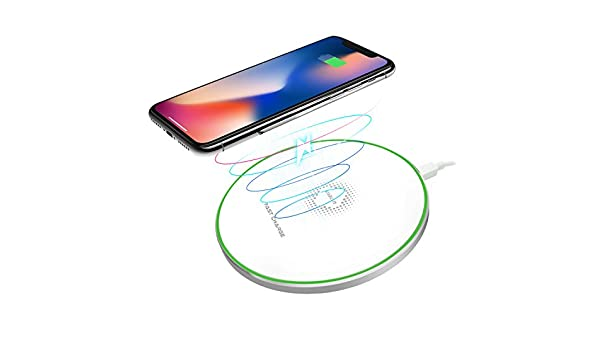 Fast Wireless Charger Black1 LOBKIN Ultra Slim Qi Wireless Charger QC 3.0 Quick Charge Portable Charging Pad for iPhone X iPhone 8//8 Plus Samsung Galaxy S9//S9 Plus//Note 8//S8//S8 Plus