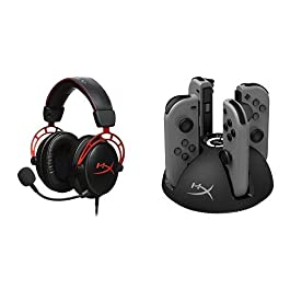 HyperX Cloud Alpha Gaming Headset and HyperX ChargePlay Quad – Joy-Con Charger for Nintendo Switch