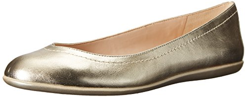 Ballet Nine West Zarong metálicas planas Light Gold