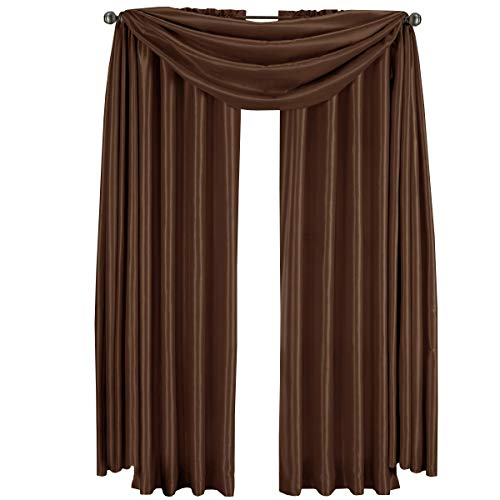 Royal Hotel Luxury Soho Chocolate-Brown Rod Pocket Window Curtain Drape, Solid Pattern, 42x84 inches