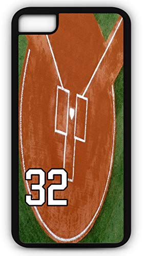 - iPhone 7 Plus 7+ Phone Case Baseball B103Z by TYD Designs in Black Rubber Choose Your Own Or Player Jersey Number 32