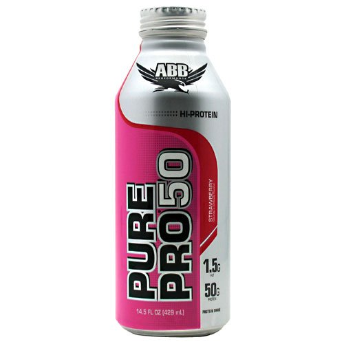 American Body Building Pure Pro 50 RTD Dist Supplement, Strawberry, 12-Count, 14.5 fl oz each.