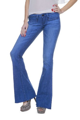 True Religion Damen Jeans Flare Leg Sarena Trouser Low R Wash NSM Looking Glass Blau NdZY1iugK3