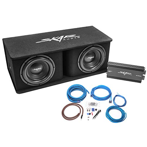"Skar Audio Dual 12"" Complete 2,400 Watt SDR Series Subwoofer Bass Package - Includes Loaded Enclosure with Amplifier"