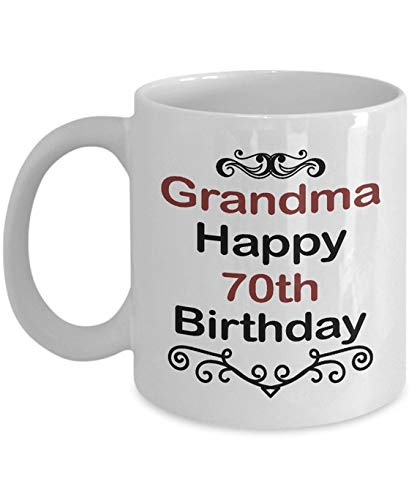 Amazon Birthday Mug GiftGrandma Happy 70th