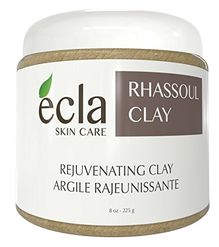 Rhassoul Clay Face and Hair Mask Powder - 100% Pure Organic Moroccan Ghassoul Facial Treatment for Acne, Dry and Oily Skin. Spa Grade Deep Pore Cleansing Natural Lava Mud Mask