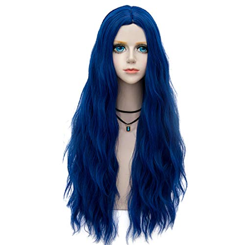 Probeauty Miracle &Forest Lady Collection Heat Resistant Synthetic Wigs Long Curly Women Cosplay Wig (70cm, Royal Blue F9)