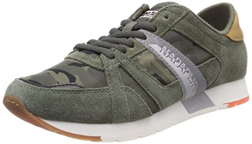 Uomo Sneaker NAPAPIJRI Print Rabari Army Camo Mehrfarbig Green FOOTWEAR qtxBOU