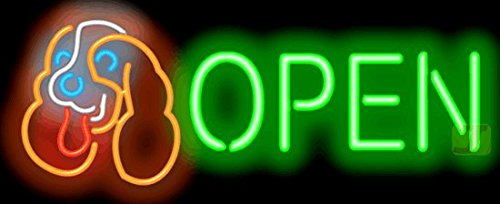 Dog Open Neon Sign by Jantec Sign Group
