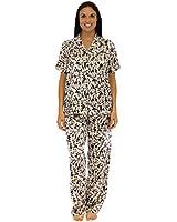 Pajama Heaven Women's Satin Shortsleeve Lounger Pajama