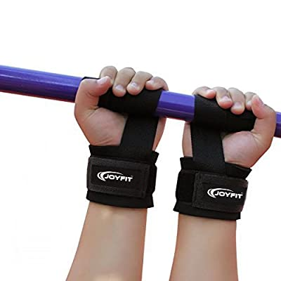 JoyFit - Pro Level Weight Lifting Wrist Straps with Neoprene Wrist Pad Support For Gym, Wrist Protector For Heavy Weight Lifting, Cross Fit, Body building, Power Lifting, Strength Training