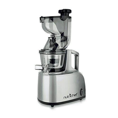 NutriChef PKSJ40 Countertop Masticating Slow Juicer Juice and Drink Maker,...