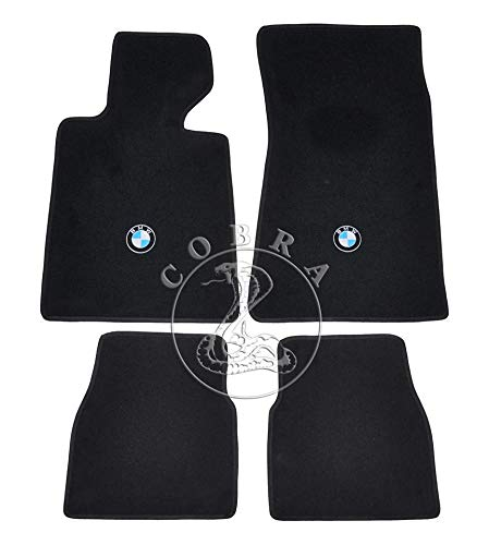 Cobra Auto Accessories Floor Mats Carpet + Logo Fits BMW 3 Series E30 Coupe/Convert 84 85 86 87 88 89 90 91
