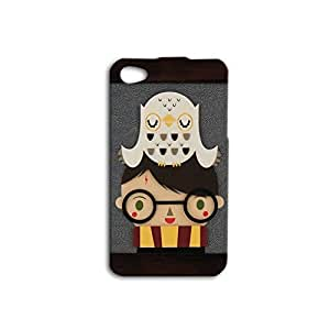 SUUER Rubber Silicone Cute Hedwig with Harry Potter Designer Personalized Custom Plastic Rubber Tpu CASE for iPhone 4/4s Durable Case Cover