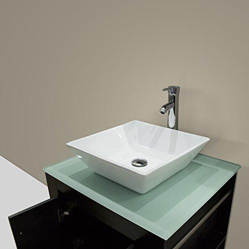 WALCUT 24 Inch Bathroom Vanity And Sink Combo Modern Black
