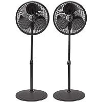 Lasko 16 Inch Performance 3 Speed Oscillating Stand Pedestal Floor Fan (2 Pack)