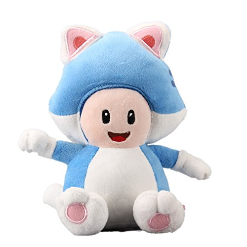 uiuoutoy Super Mario Bros. 3D World Cat Toad Plush 7