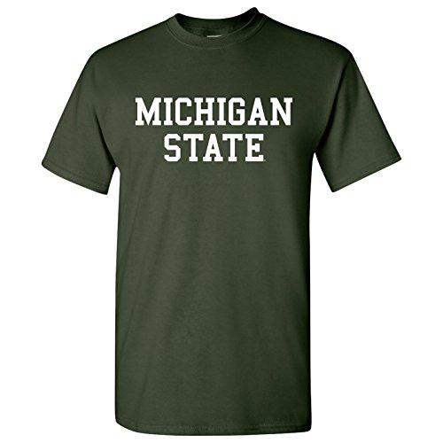 Basic Block Michigan State, MSU Spartans Basic T-Shirt - X-Large - Green