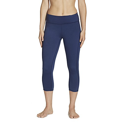 Gaiam Women's Luxe Yoga Capri Solid, Midnight, X-Large