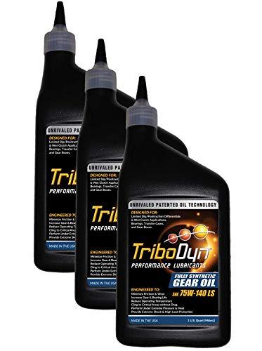 Oil Gear Synthetic Fully (TriboDyn 75W-140 Fully Synthetic Limited Slip Gear Oil (3 Quart Pack))