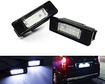 2 LED Licence Number Plate Light No Error MB Sprinter 906 Viano Vito 639 Crafter