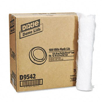 Dixie® Drink-Thru Lid LID,DOME,F/12&16OZ HOTCUP 5224901 (Pack of 2)