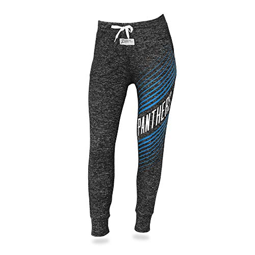 Zubaz NFL North Carolina Panthers Female Joggers, Medium, Gray