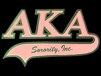 Alpha Kappa Alpha Sorority Letters Swoosh Logo Emblem Small Patch