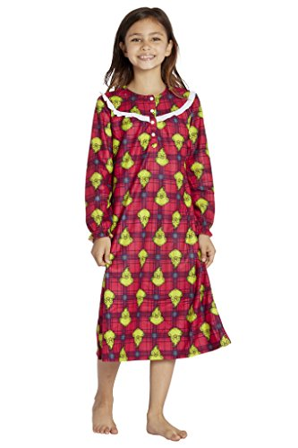 - Intimo Girls' Dr Seuss How The Grinch Stole Christmas Flannel Nightgown (XS, 4/5)