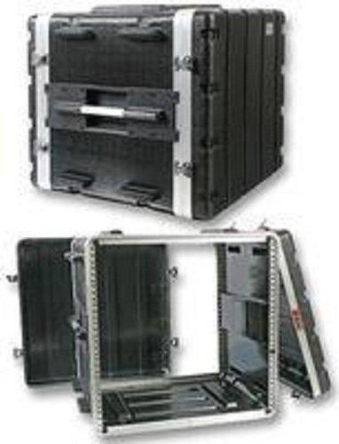 Pro Audio DJ Stackable ABS Rack Mount Flight Case Stackable Electronic Equipment Case- Ten Rack Spaces 10RU by Pulse