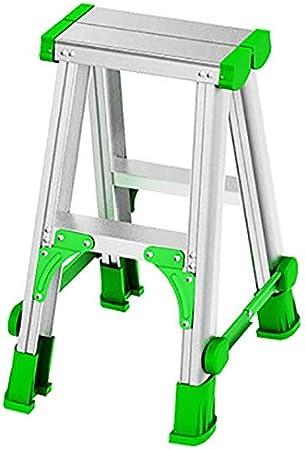 SED Escaleras de Mano Multiusos para el Hogar, Escaleras con Peldaños de Interior Pequeña Escalera de 2 para Adultos Escalera de Tijera Plegable de Aleación de Aluminio con Peldaños, Escalera Antides: Amazon.es: