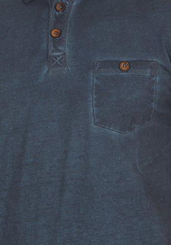 solid Camiseta Blue Con Termann Manga Corta Hombre Insignia Polo De 1991 Para Algodón Cuello 100 rrFRw