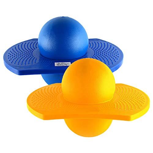 D DOLITY 2 Piezas 37x25x29cm Salto Hinchable Balance Board Pogo Ball Niños Niños Deportes Al Aire Libre Fitness Diversión...
