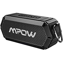 Mpow R3 Bluetooth Speaker, Portable Indoor Outdoor Wireless Speaker Bluetooth V4.2, HD Stereo & Bass, IPX6 Waterproof, Support AUX in, 15-Hour Playtime for Party, Beach, Shower, Camping, Hiking(Black)