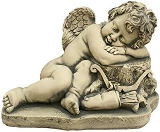 Figura Decorativa Ángel Cupido en hormigón-Piedra para el jardín Exterior 42X30cm.: Amazon.es: Jardín