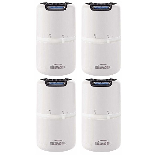 Thermacell MR-D202 Halo Mosquito Repeller - Patio Shield, White, 4-Pack (Each Protects 15'x15' Area)