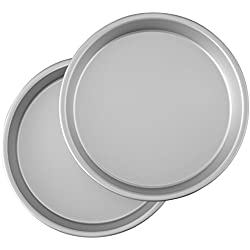 Wilton SS-DAR-WI2105-7908 Aluminum Performance Pans Set of 2 9-Inch Round Cake Set, 9""