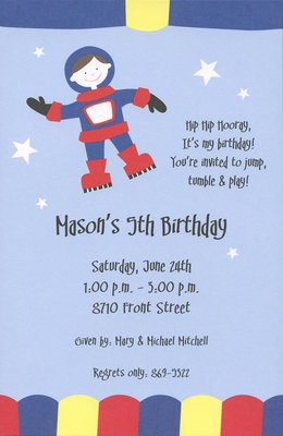 Moonwalk Custom Personalized Boy Birthday Invitation By Inviting Company