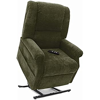 Mega Motion Infinite Position Power Easy Comfort Lift Chair Lifting Recliner FC-101 Infinite Recline Rising Electric Chaise Lounger - Basil Green Color Fabric + Inside the Home Delivery, Setup and Box Removal