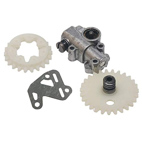 Hippotech Oil Pump Oiler Worm Gear Spur Wheel with Gaskets Fit STIHL MS380 MS381 038 038AV Super Magnum