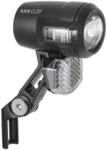 AXA Compactline 35 Faro para Bicicleta Talla /única Negro Unisex Adulto